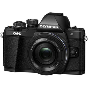 Harga Olympus OM-D E-M10 Mark II Mirrorless Micro Four Thirds Digital Camera with 14-42mm Lens (Black)