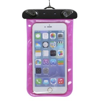 Puppies Home Waterproof Mobile Phone Pouch for iPhone 6S 6 Samsung Galaxy (Pink)