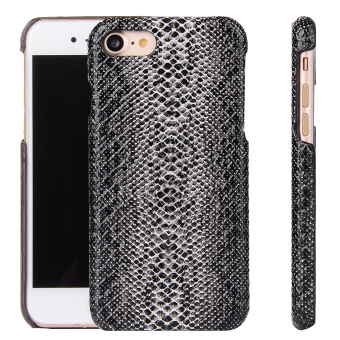 Harga PU Leather Snap-On Back Case Cover For iPhone 7 Plus (Snake Skin Pattern)