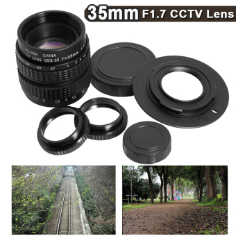 Harga 35mm F1.7 CCTV Lens + C to Micro 4/3 Mount for E-P2 E-P3 E-PL3 E-PL5 Camera