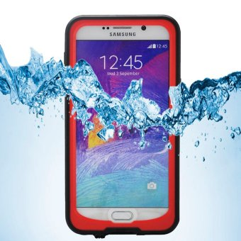 Harga REDPEPPER Underwater Waterproof Dive Case for Samsung Galaxy Note5 N920 - Red