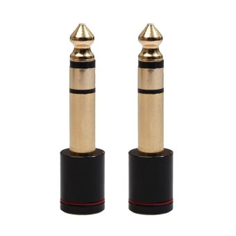 2Pcs 6.5mm Male Plug to 3.5mm Female Jack Stereo Headphone Audio Adapter - intl