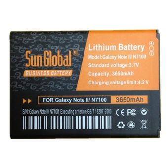 Harga Sun Global Business Battery Samsung Galaxy Note 2 3650mah