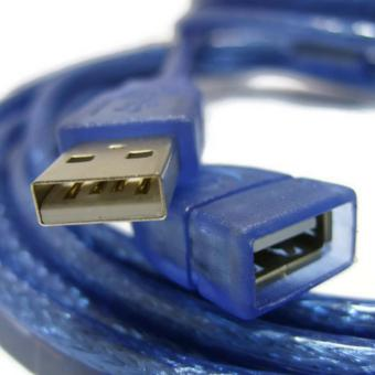 Harga 1.5-metre USB 2.0 Extension Data Cable Type A MALE to Type A FEMALE (Translucent Blue)