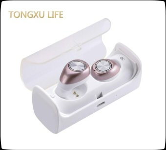 Harga TONGXU LIFE Bluetooth Earbuds V4.1 Wireless Mini Stereo Earphone with Charging Socket Box - intl