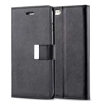 New Wallet Flip PU Leather Phone Case Cover For Apple iPhone 6 Plus / 6s Plus Black