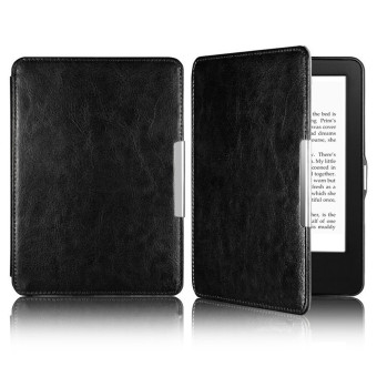 Harga Leather Magnetic Auto Sleep Cover Case for Amazon Kindle Paperwhite 1/2 (Black) (EXPORT)