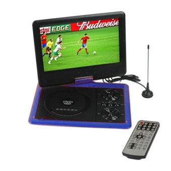 Harga Zen Portable DVD Player TFT Color LED TV 9.8 inch with swivel and rechargeable battery - Game-FM-MP3-3D Movies compatible(Blue) - NS-958-BL[EXPORT]