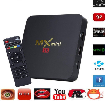 Immix MX Bluetooth Mini Wifi 4K TV BOX (Black) - intl - 2