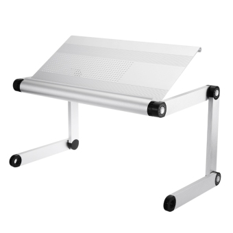 OMAX A6L Adjustable Height Laptop Desk Notebook Table with Vented Stand (Silver) - intl - 2