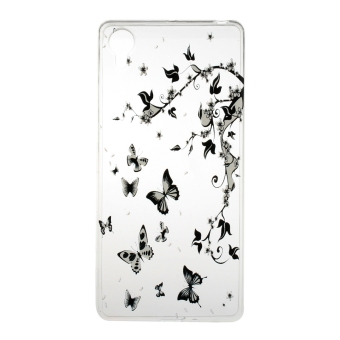 Harga Transparent Slim TPU Soft Back Case Cover For Sony Xperia X (Butterflies)