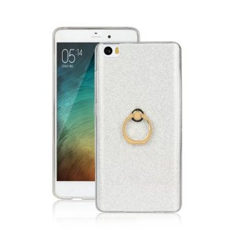 Harga Moonmini Sparkling Slim Fit Soft TPU Back Case Ring Grip Holder Cover For Xiaomi Mi Note (Silver)