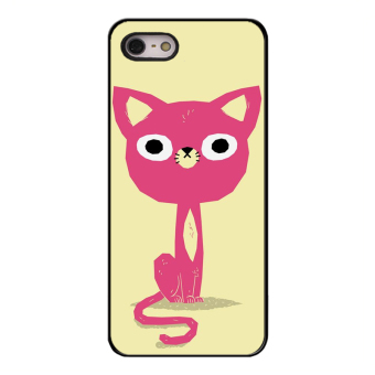 Harga Y&M iPhone 5/5s Cell Phone Case Love Pink Kitty Pattern Cover (Multicolor) - intl