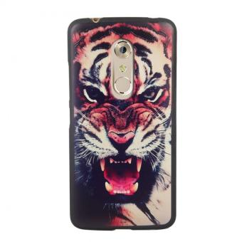 Harga Soft TPU 3D Embossed Painting Cover Case For ZTE Axon 7(Tiger) - intl