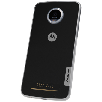 Harga sFor moto z play droid Nillkin Clear Nature silicon soft phone cover (5.5 inch) (Grey) - intl