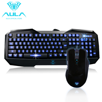 Harga AULA OFFICIAL Broken Soul Behead Expert Backlit Gaming Mouse with Keyboard Combo
