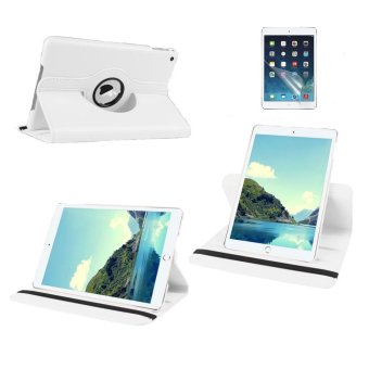 Harga Welink 2 in 1 iPad 2/3/4 Cover Case Plus Screen Protector, 360 Degree Rotating PU Leather Stand Smart Case Cover with Automatic Wake/Sleep Feature for iPad 2/3/4 (White)(Export)(Intl)