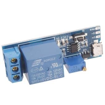 High Quality Brand New 5V -30V Delay Relay Timer Module Trigger Delay Switch Micro USB Power Tool (Blue) - 5