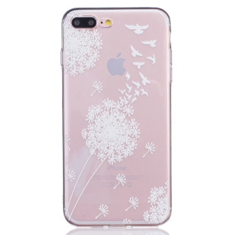 Harga Relief Print TPU Protective Back Case Cover For Apple iPhone 7 Plus ( Dandelion)