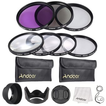 Harga Andoer 62mm UV + CPL + FLD + Close-up(+1+2+4+10) Camera Lens Filter Kit