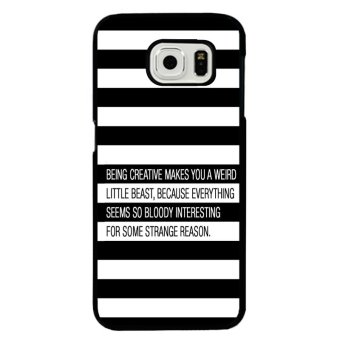 Harga Y&M Black and White Stripe Samsung Galaxy Note 5 Edge Phone Cover (Multicolor)