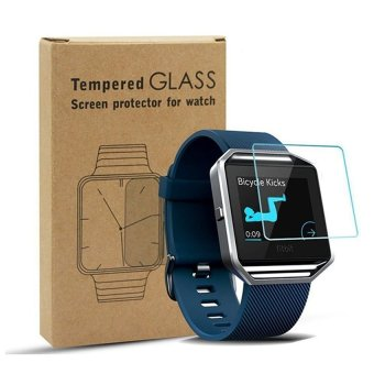 Harga Seeme Tempered Glass Screen Protector For Fitbit Blaze Smart Watch(2-PCS)! - intl