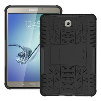 Luxury Back Armor Style Cover (PC and Soft TPU) Shockproof Protection and Stand Tablet case for Samsung Galaxy Tab S2 8.0 / T710 / T715 / T719N - intl