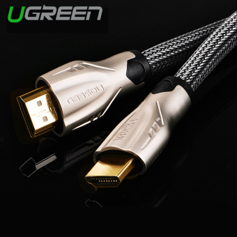 Harga UGREEN HDMI Cable Nylon Weaves with Zinc Alloy Metal Connector Support 3D 4K x 2K (2m) - Intl