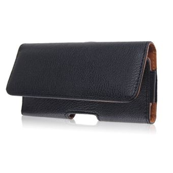 PU Leather Phone Cover Pouch Waist Bag Belt-Clip Horizontal For IPhone 6/6 Plusi (Black) - 2