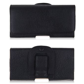 PU Leather Phone Cover Pouch Waist Bag Belt-Clip Horizontal For IPhone 6/6 Plusi (Black)