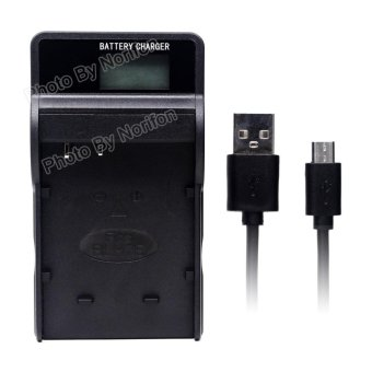 Harga DMW-BLH7 LCD Ultra Slim USB Charger for Panasonic Lumix DMC-GF3, Lumix DMC-GF5, LUMIX DMC-GF6, Lumix DMC-GM1, Lumix DMC-GX7, Lumix DMC-LX100, LUMIX DMC-TZ101, Lumix GX7, Lumix LX100, DMC-GM5K and More - intl