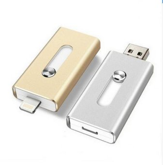 Harga Hot New 128GB USB 2.0 OTG Flash Drive / Pendrive / Thumb Drive / Pen Drive for Apple iPhone iOS, iPads, PC - intl