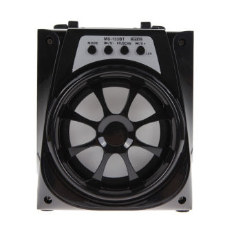 Harga VAKIND Portable Super Bass Outdoor Bluetooth Speaker with USB/TF/AUX/FM Radio (Black)