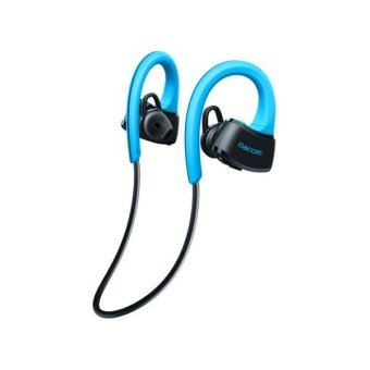 Harga DACOM P10 Bluetooth Stereo Headset Ear Hook Sports Swimming Headphone with Mic - Blue / Black - intl