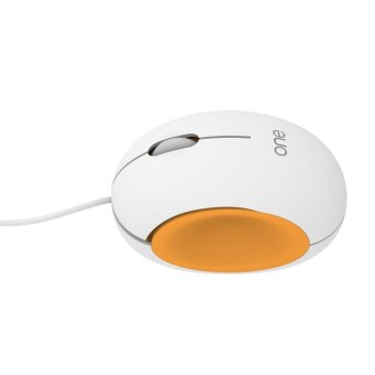 Visenta I1 Wired Mouse for Computer Laptop (White and Orange) - intl - 4