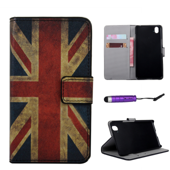 Harga Moonmini PU Wallet Leather Case Flip Stand Cover for OnePlus X - Union Jack