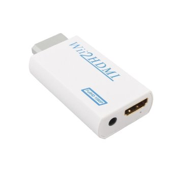 Wii To HDMI Automatic Upscaler 1080P Converter Adapter + 1.5M High Speed HDMI 1.4v Cable, 720/1080P HD Output Upscaling Converter - Supports All Wii Display Modes - 2