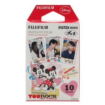 "Harga Fujifilm Instax Mini Film Mickey and Friends ""You Rock My World"" - 10 sheets"