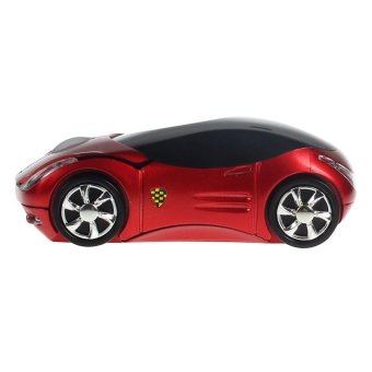 2.4G 1600DPI Car Shape Optical USB Wireless Mouse Mice For Laptop PC Red - 2