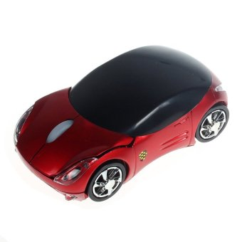 2.4G 1600DPI Car Shape Optical USB Wireless Mouse Mice For Laptop PC Red
