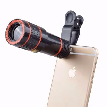 Harga Clip-on 12x Optical Zoom HD Telescope Camera Lens For Universal Mobile Phone - intl