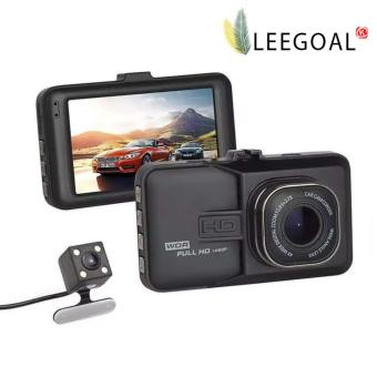 Harga Leegoal Full HD 1080P Dual Dash Cam Camera Hands-Free Night Vision Car Recorder DVR