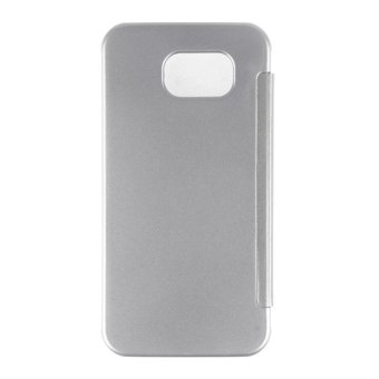 Smart View Clear Flip Phone Slim Case Cover for Samsung Galaxy S7 edge (Silver) - 3
