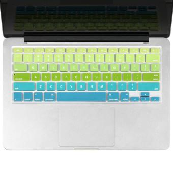 Harga Welink Fashion Silicone US Keyboard Cover Waterproof Keyboard Protector Skin For Apple Macbook Air 13 Inch , Macbook Pro 13 Inch 15 Inch And Imac (mix Green/Aqua Ombre)