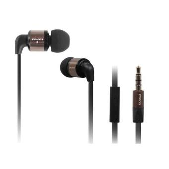 Awei ES600i Sport Headphone With Microphone Mic Headset In-ear Earphone(Brown) - intl
