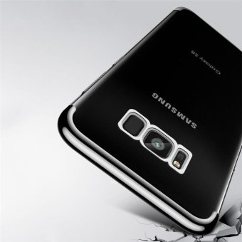 For Samsung Galaxy S8 Plus Clear Soft Tpu Phone Case Luxury Ultra Thin Plating Crystal Transparent Shockproof Phone Cover Silicone Case for Samsung GalaxyS8 PLUS /Samsug S 8PLUS /SAMSUNGS8PLUS/samsung galaxy s8 plus/samsungs8plus/Samsung galaxy S8+ - intl - 3