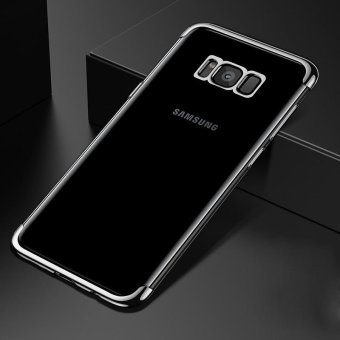 For Samsung Galaxy S8 Plus Clear Soft Tpu Phone Case Luxury Ultra Thin Plating Crystal Transparent Shockproof Phone Cover Silicone Case for Samsung GalaxyS8 PLUS /Samsug S 8PLUS /SAMSUNGS8PLUS/samsung galaxy s8 plus/samsungs8plus/Samsung galaxy S8+ - intl