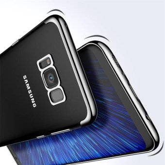 For Samsung Galaxy S8 Plus Clear Soft Tpu Phone Case Luxury Ultra Thin Plating Crystal Transparent Shockproof Phone Cover Silicone Case for Samsung GalaxyS8 PLUS /Samsug S 8PLUS /SAMSUNGS8PLUS/samsung galaxy s8 plus/samsungs8plus/Samsung galaxy S8+ - intl - 2