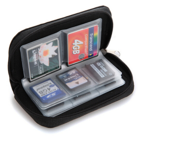 Hanyu SDHC MMC Micro SD Memory Card Storage Carrying Wallet Pouch Holder Case Black - intl