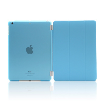 Harga Tablet Smart Cover + Slim Transparent Back Case for Apple iPad Air 2/ iPad 6 (Blue) - Intl